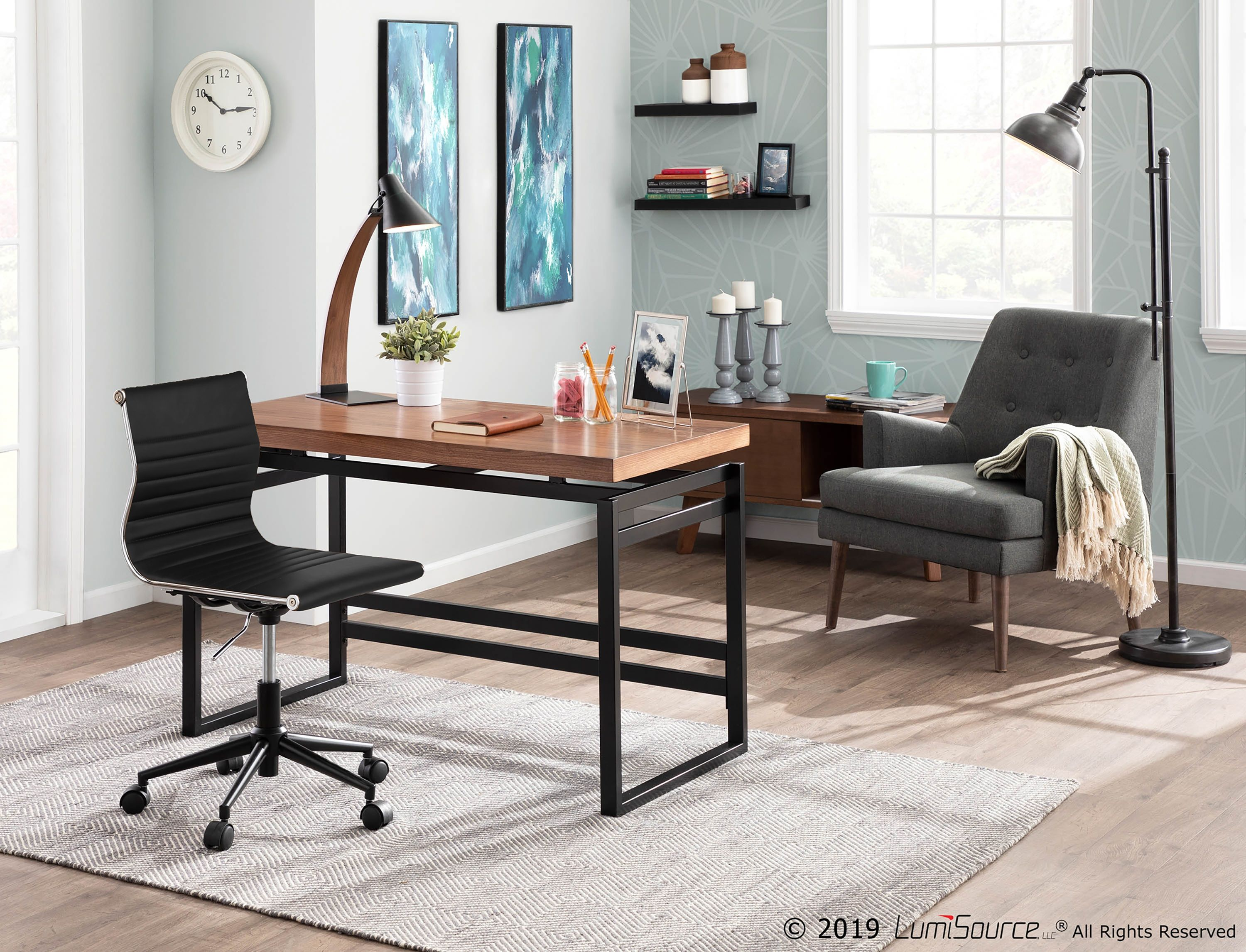 Adjustable Faux Leather Home Office Chair