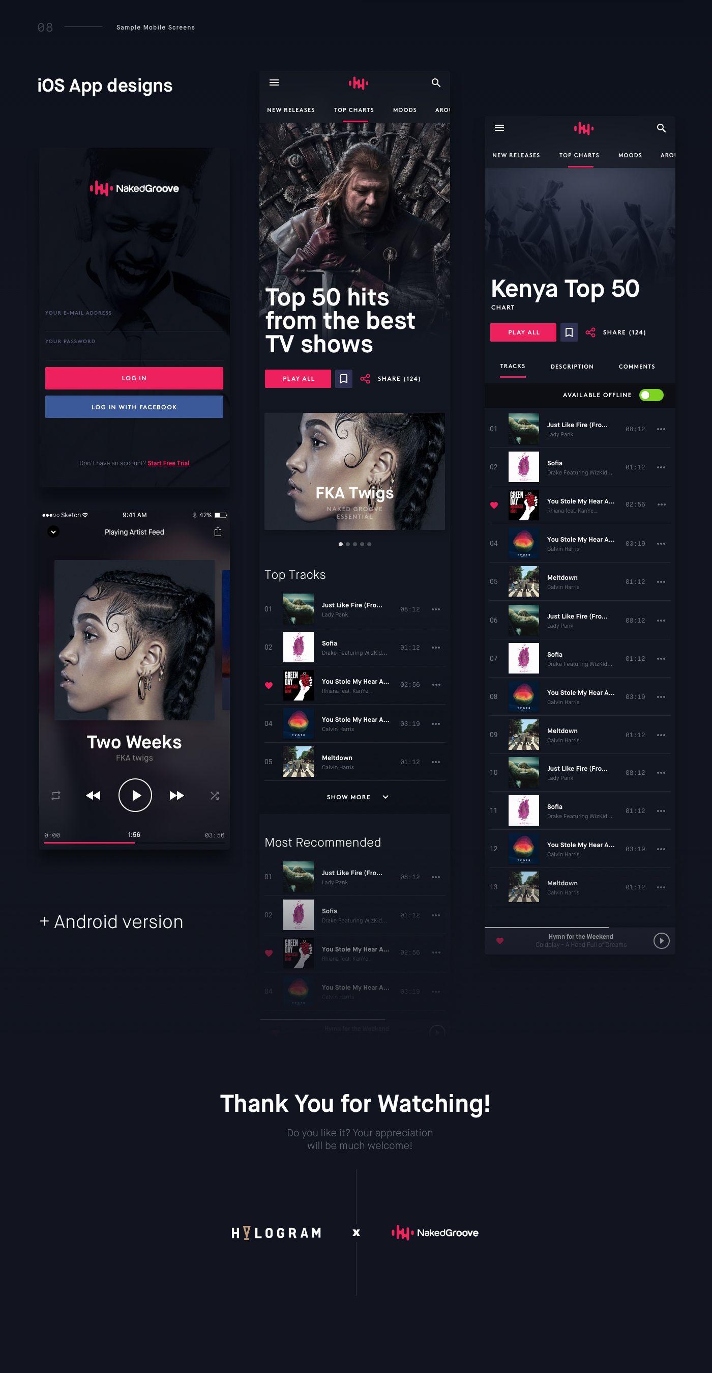 NakedGroove Online Music Streaming Platform on Behance