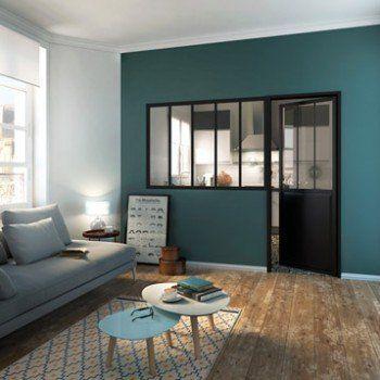 Verriere D Interieur Atelier En Kit Aluminium Noir 5 Vitrages H 1 08 X L 1 53 M Leroy Merlin Deco Salon Deco Maison Maison