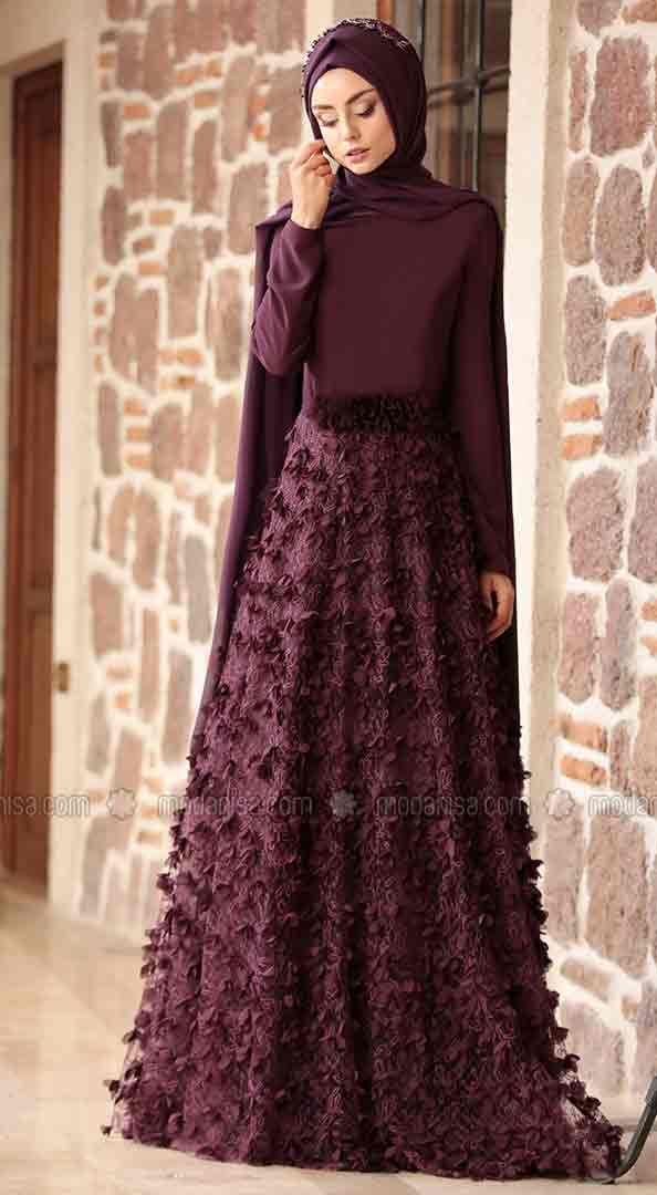 b1f3d49060b0 Formal Party Wear Abaya With Hijab Styles 2019 in 2019 | Latest ...