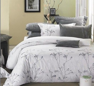 New Luxury White Silver Branches 3pcs Duvet Cover Set Queen And King Available Luxury Bedding Master Bedroom Duvet Cover Sets Silver Bedding