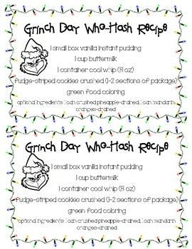 Grinch Day Who-Hash Recipe