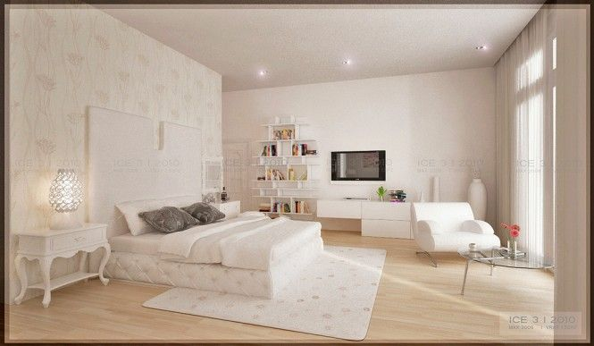 white master bedroom. I`m So Putting The Carpet Half Under Bed! Very Handy On Cold Days/nights. White Master Bedroom