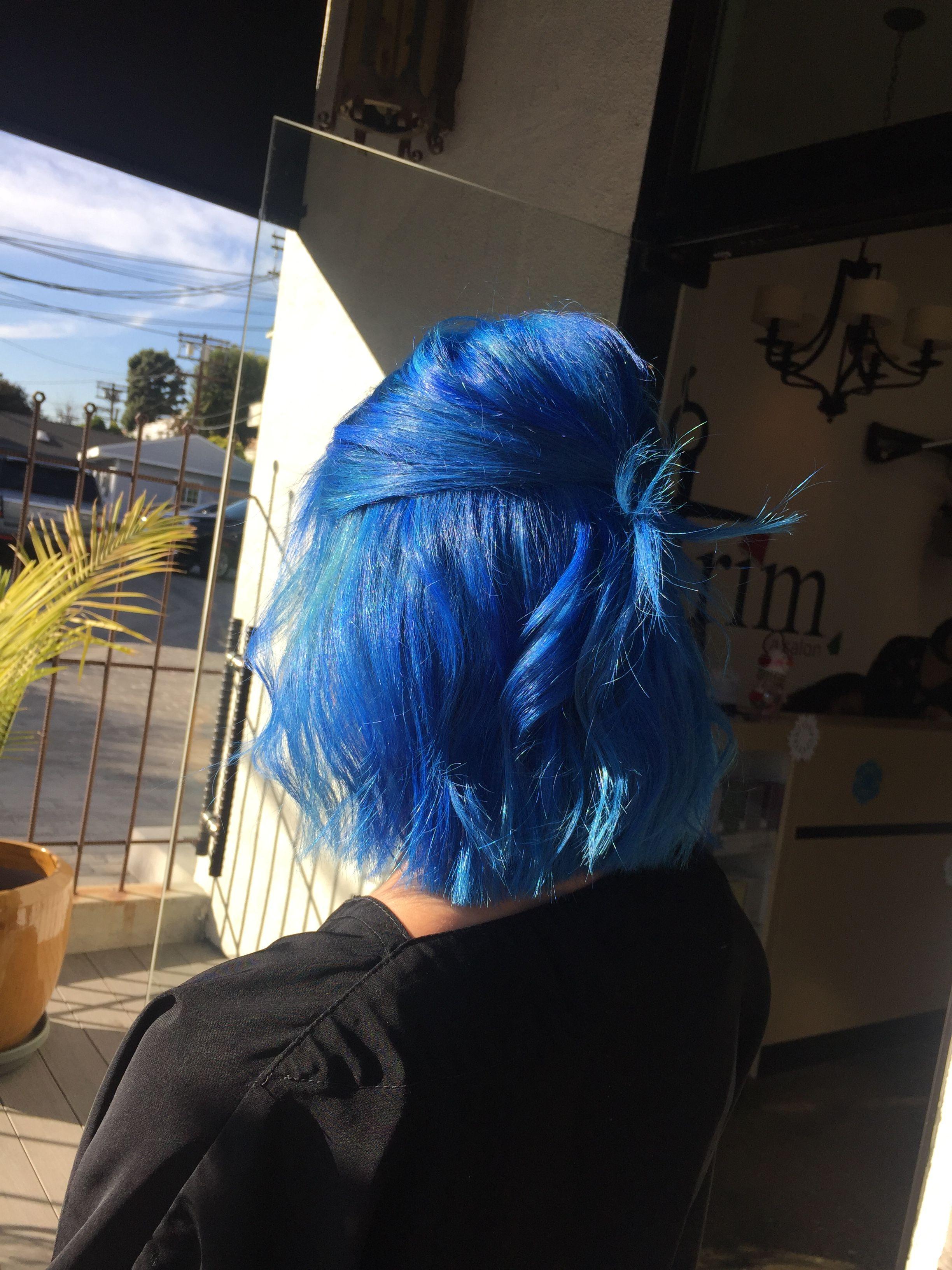 Hair hairbyorit haircolor pravana color ion royalblue blue
