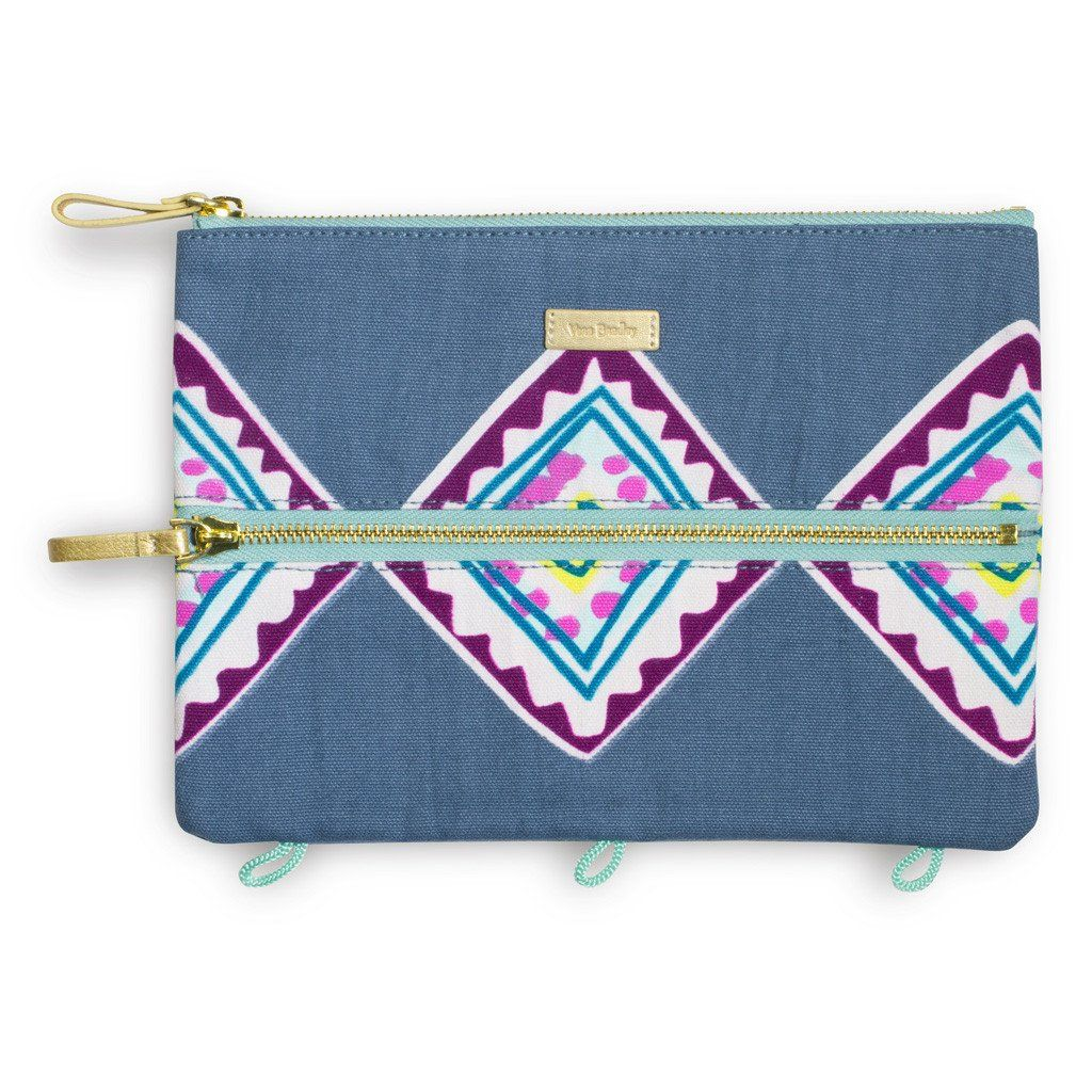 Vera Bradley Pencil Pouch - Painted Medallions