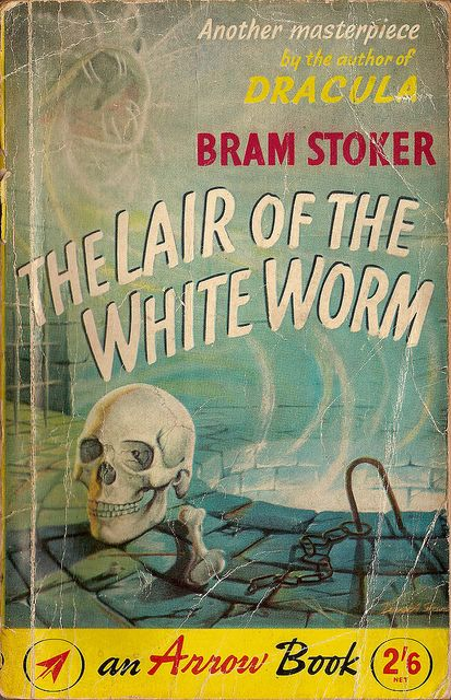 Vintage sleaze: early paperback cover for LAIR OF THE WHITE