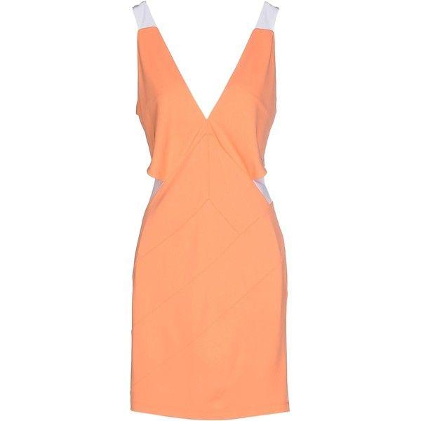 Just Cavalli Short Dress ($245) ❤ liked on Polyvore featuring dresses, salmon pink, sleeveless dress, pink sleeveless dress, jersey dress, mini dress and pink dress
