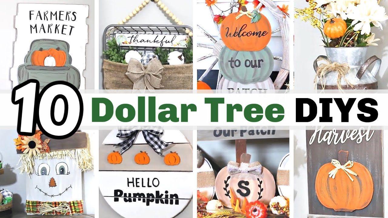 Wow 1 Diy Fall Decor Crafts Best Fall Dollar Tree Diy Decor Ideas 2020 Krafts By Katelyn In 2020 Fall Decor Diy Dollar Store Diy Decorations Fall Crafts Diy