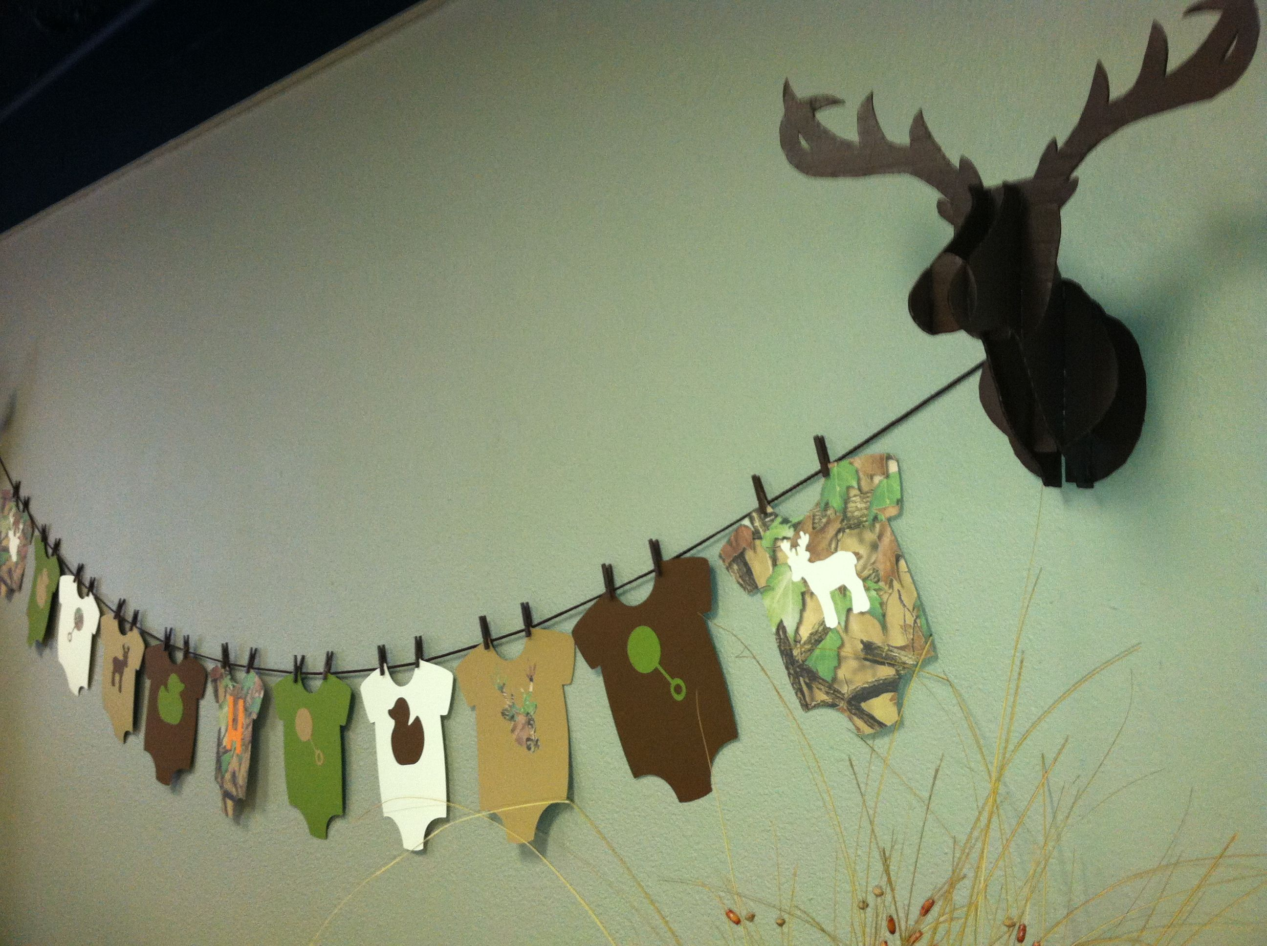 Camouflage baby shower Oais baby shower Pinterest