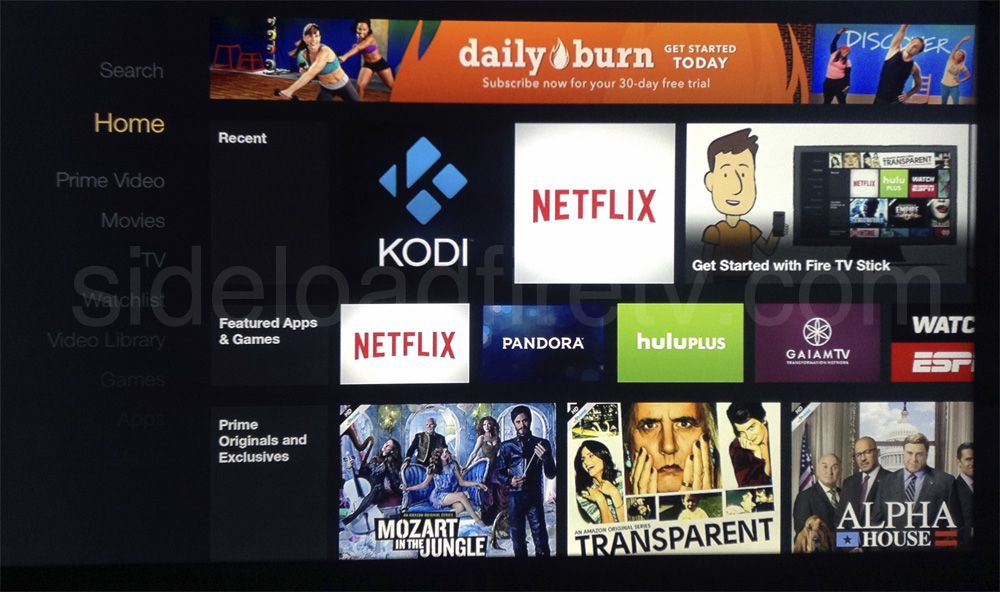 Add Kodi Xbmc Icon To Fire Tv S Home Screen Amazon Fire Tv Fire Tv Kodi