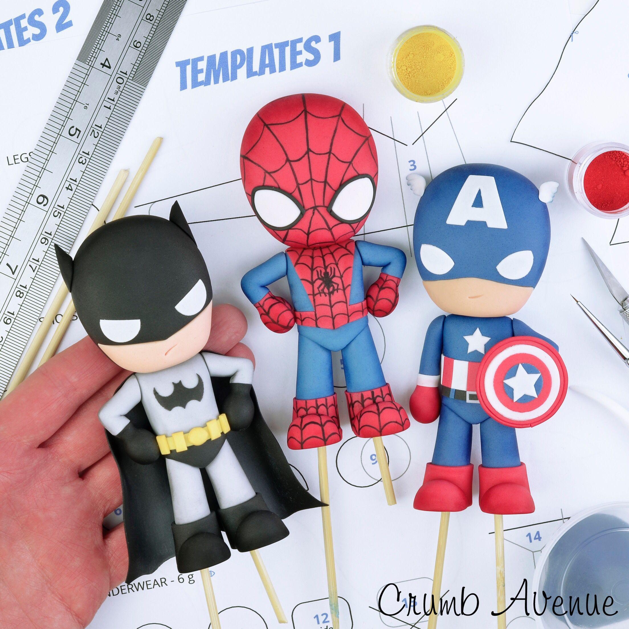 Pleasing I Used The Superhero Templates To Make Them Fondant Funny Birthday Cards Online Necthendildamsfinfo