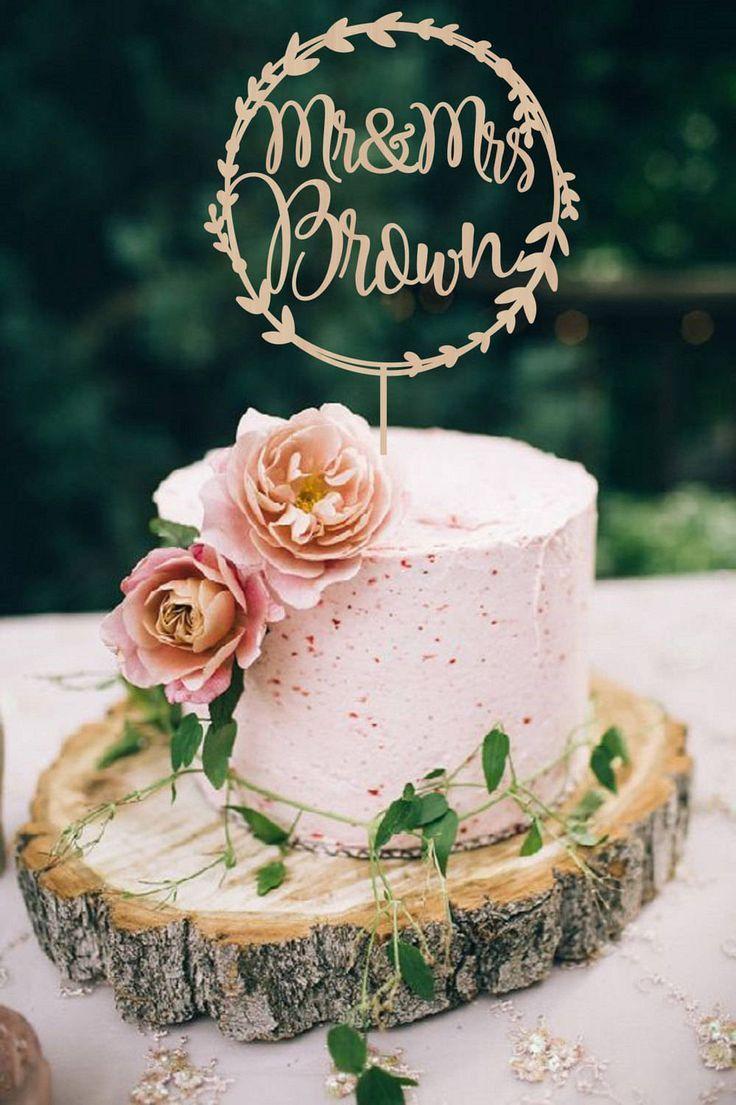 Wedding cakes wedding cake topper wreath mr mrs personalized wedding cakes wedding cake topper wreath mr mrs personalized wedding cake topper wooden mr and junglespirit Gallery