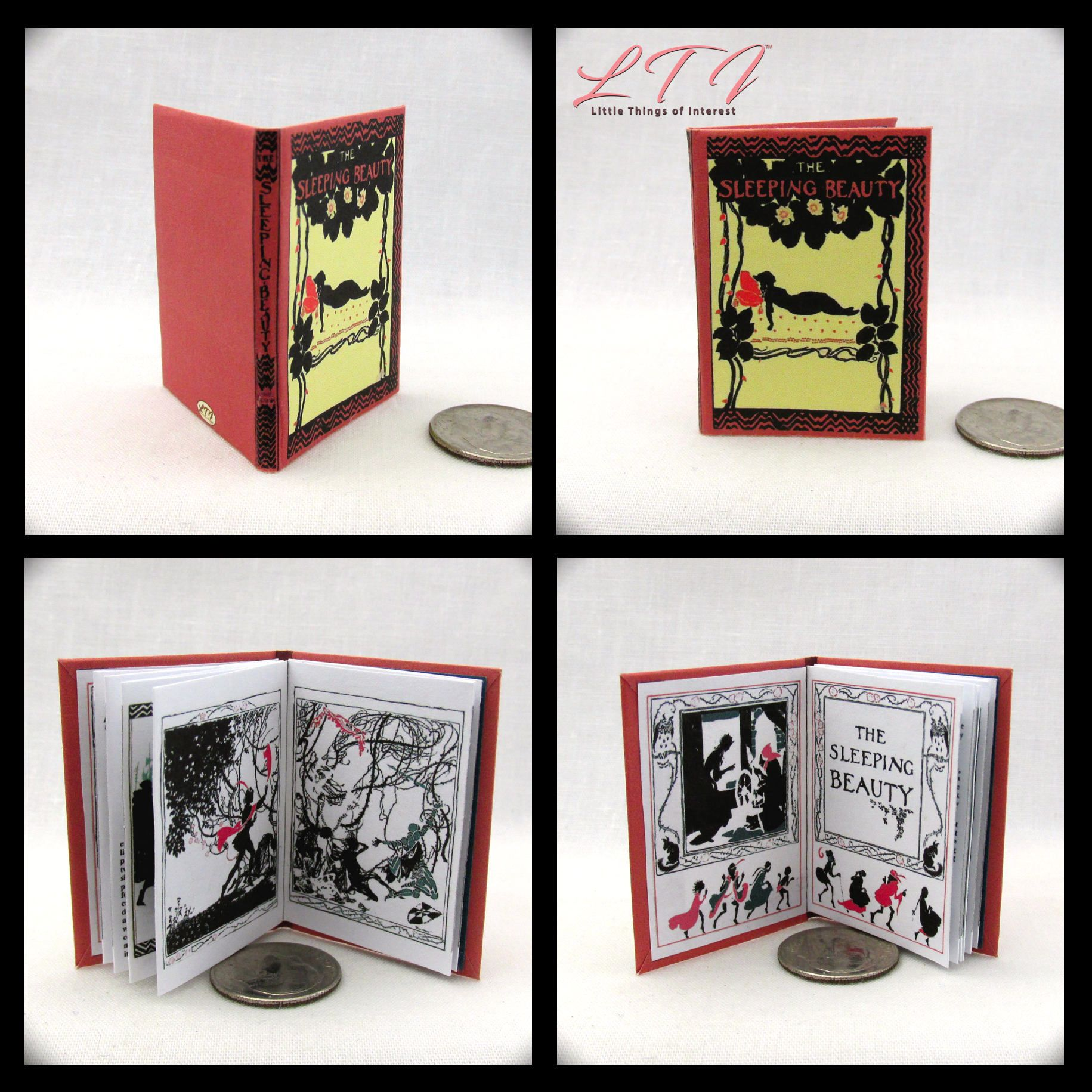 FUN AT THE CIRCUS Dollhouse Miniature Book 1:12 Scale Illustrated Vintage Book