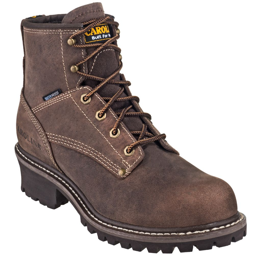 Carolina Boots Men S Ca834 6 Quot Waterproof Brown Eh Logger