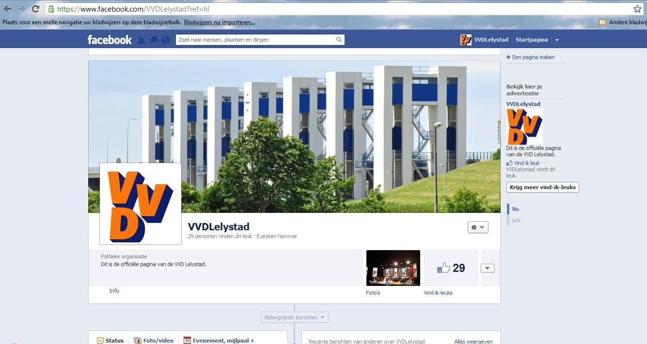 Facebook VVD Lelystad