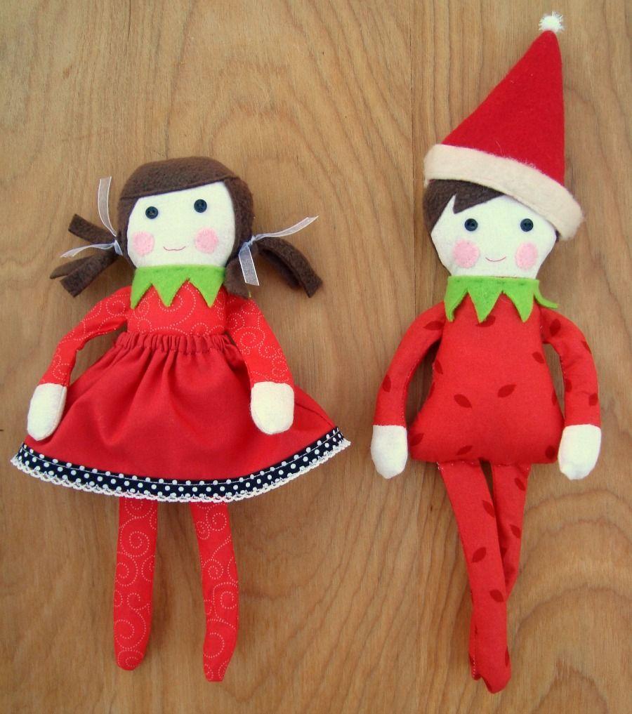 Free elf on the shelf doll pattern | Puppe nähen, Weihnachtself und ...