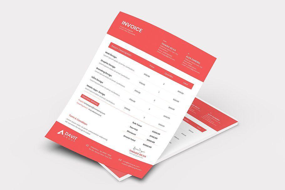 Invoice Template Invoice Template Graphic Designer Portfolio Templates