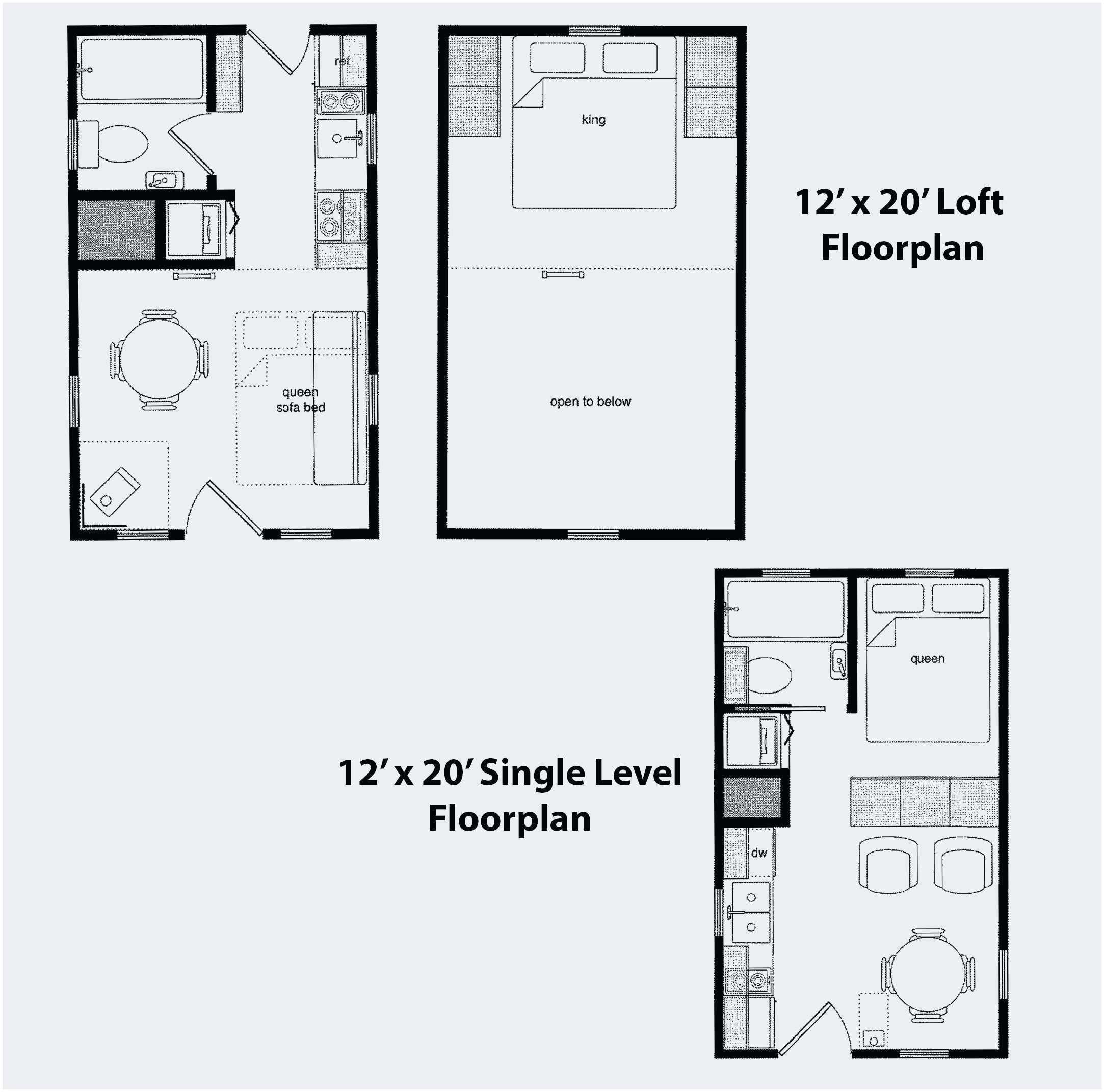 Fresh 12x24 Tiny House Plans Best 12x24 Tiny House Plans Awesome 12 24 For Alternative 12x16 Tiny Hou Loft Floor Plans Cabin Floor Plans Tiny House Floor Plans