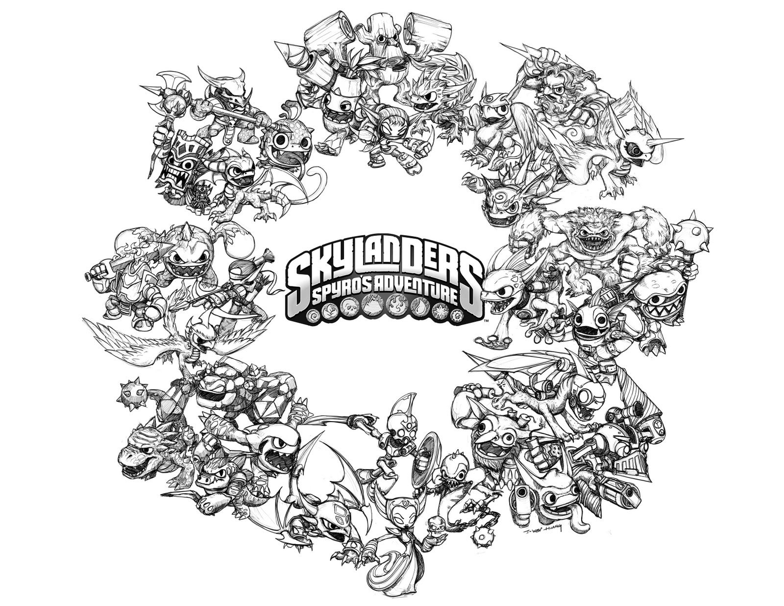 skylanders coloring pages crabfucom blog - Skylander Coloring Pages Print
