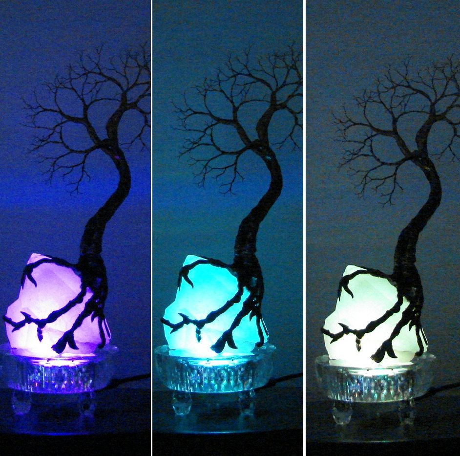 Wire Tree Of Life SPiRiT sculpture on natural Brazil Clear Quartz ...