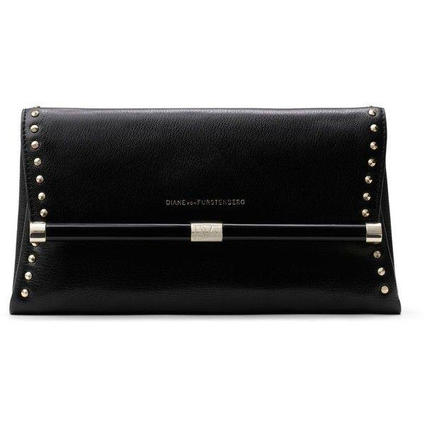 DIANE VON FURSTENBERG 440 Envelope Studded Leather Clutch found on Polyvore