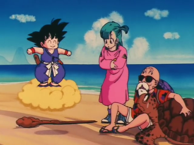 Dragon Ball Goku Master Roshi Bulma Turtle Flying Nembis One Piece Manga One Piece Anime One Piece Episodes