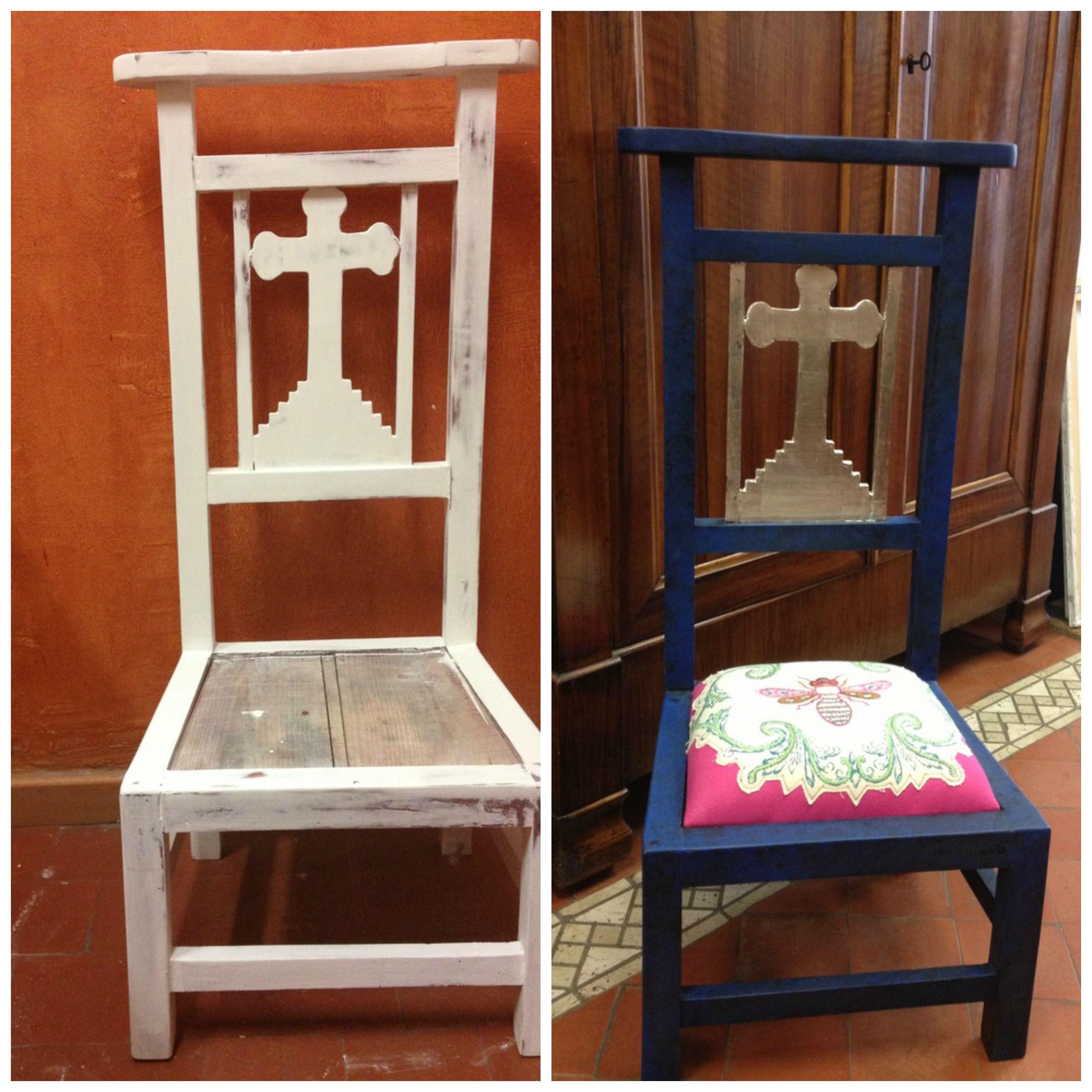 Reclinatorio reciclado con pan de plata y pintura - Pintura acrilica para muebles ...