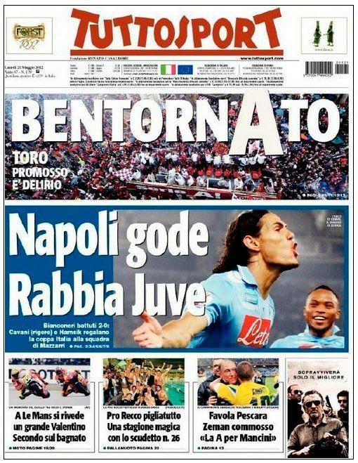Napoli win the Cup Napoli, Calcio