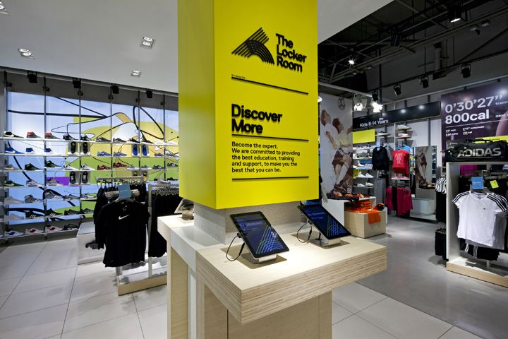 The Locker Room by Foot Locker store by Dalziel and Pow, UK