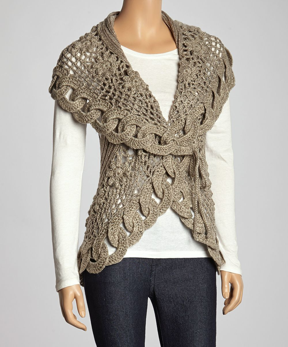 Oatmeal Link Knit Wool-Blend Sweater Vest | crochet | Pinterest ...