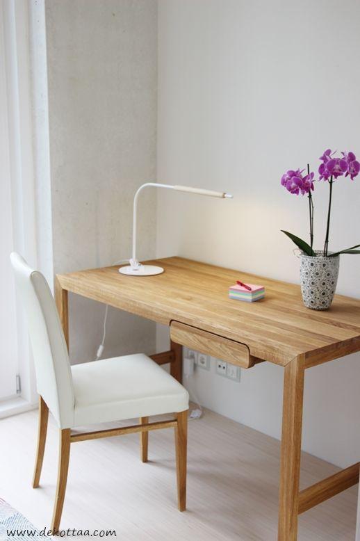 Dekottaa, työhuone, tamminen työpöytä, Vantaan asuntomessut 2015
