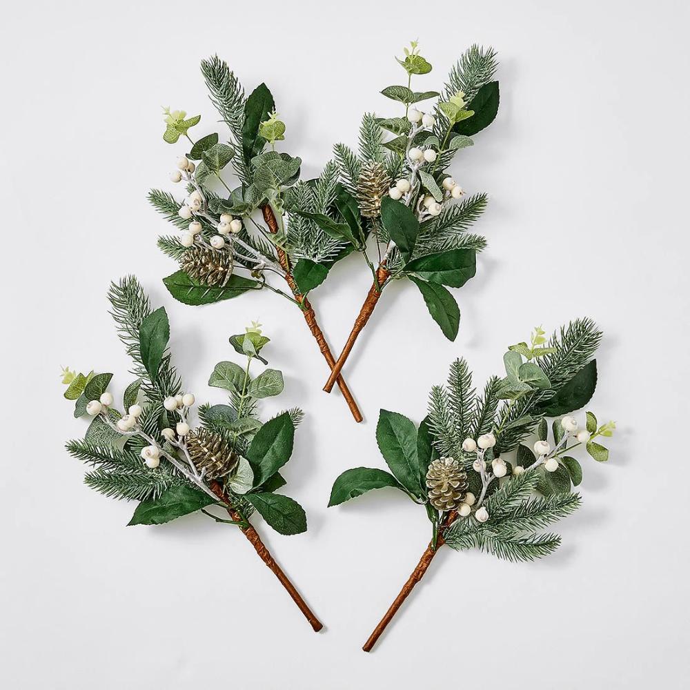 4 Piece Heritage Tree Picks White/Green Target
