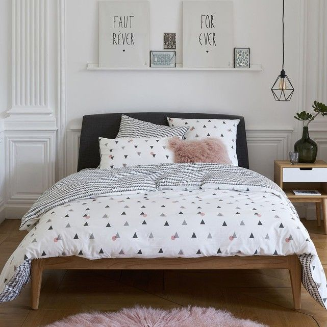 housse de couette imprim e percale pur coton digna. Black Bedroom Furniture Sets. Home Design Ideas