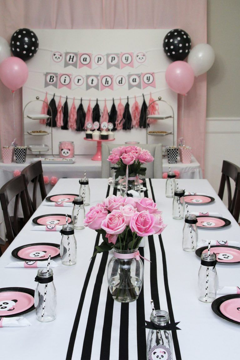 Panda Birthday Party Table Decor 5m Creations Blog Birthday