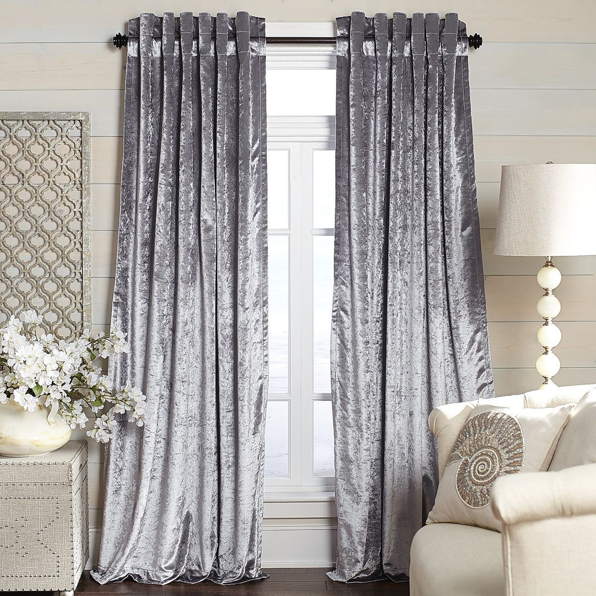 Metallic Velvet Curtain Silver Silver Curtains Velvet Curtains Curtains