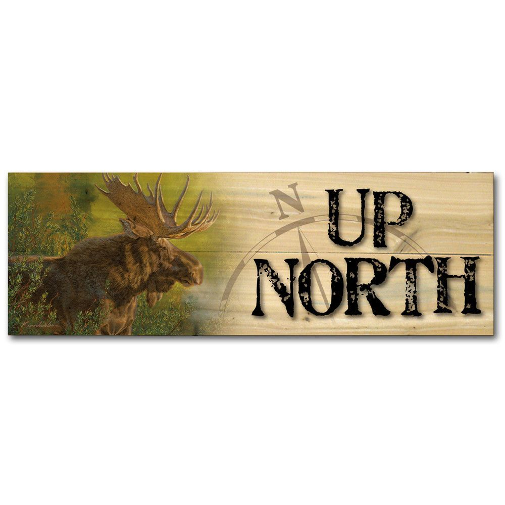 Crisp fall morning moose stallion wooden plaque products
