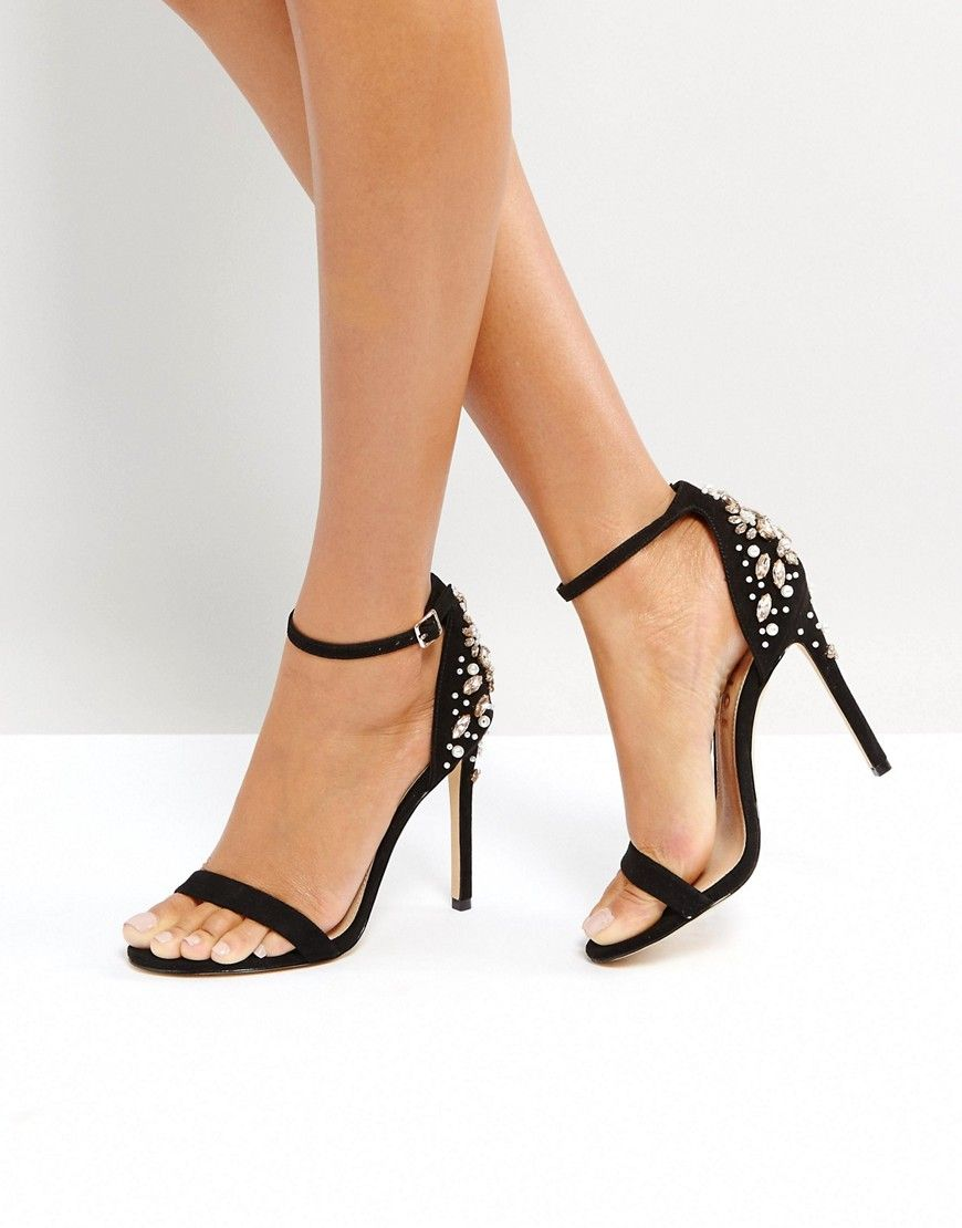 bdc39c0f15 Office Hottie Embellished Heeled Sandals – Black | Heeled Sandals ...