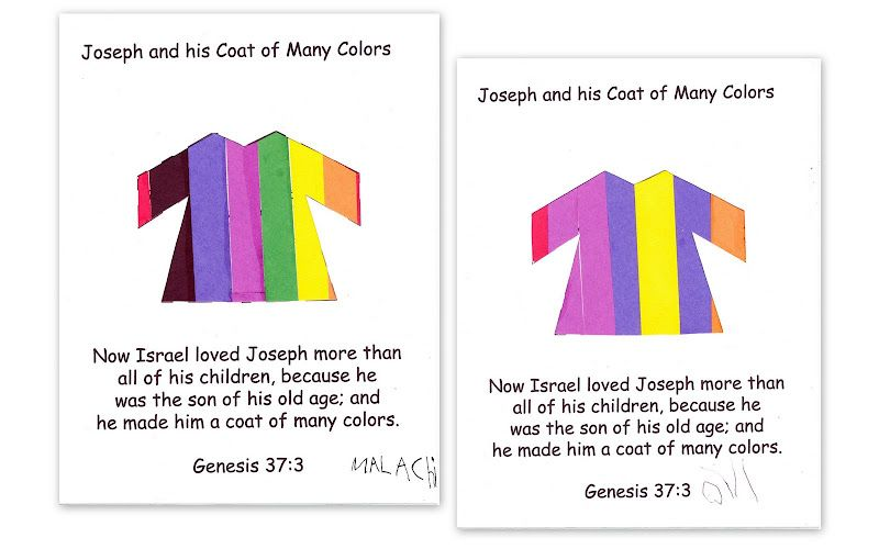 Joseph and the coat of many colors   Nursery   Pinterest