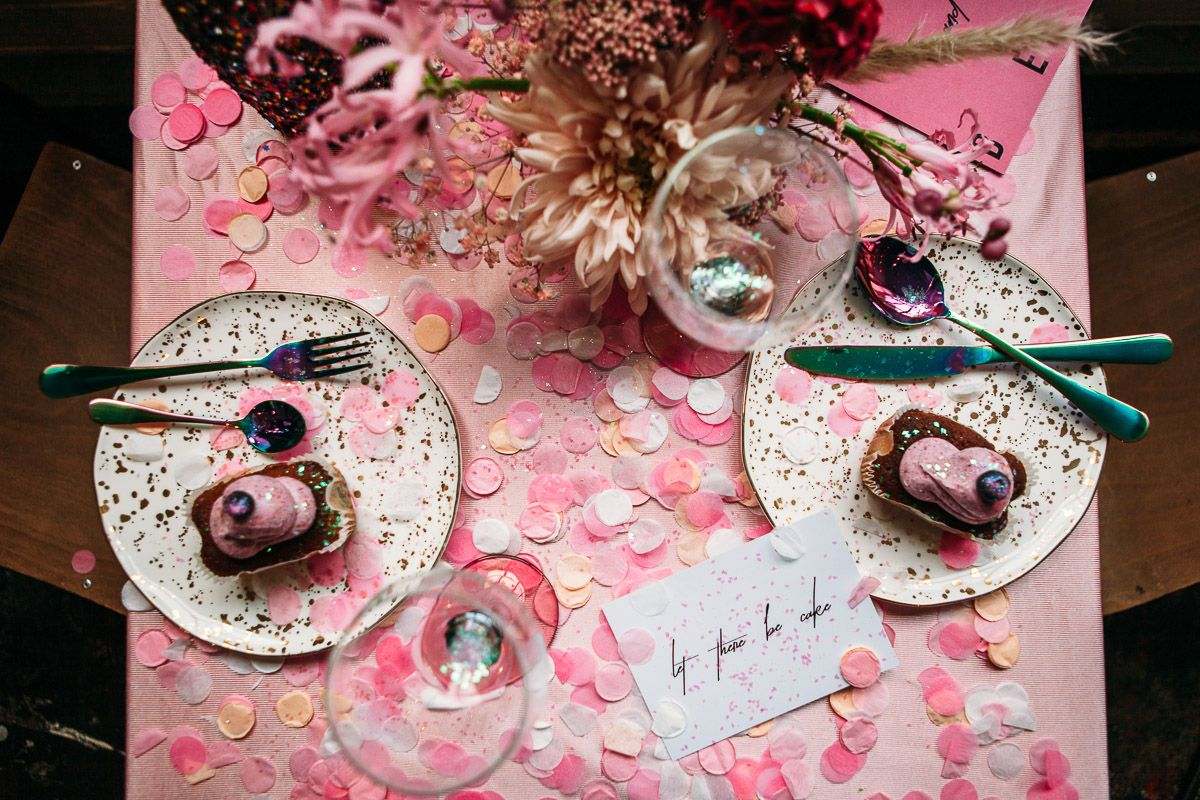 A Pink Glitter, London Elopement: Edgy City Bridal Style ...