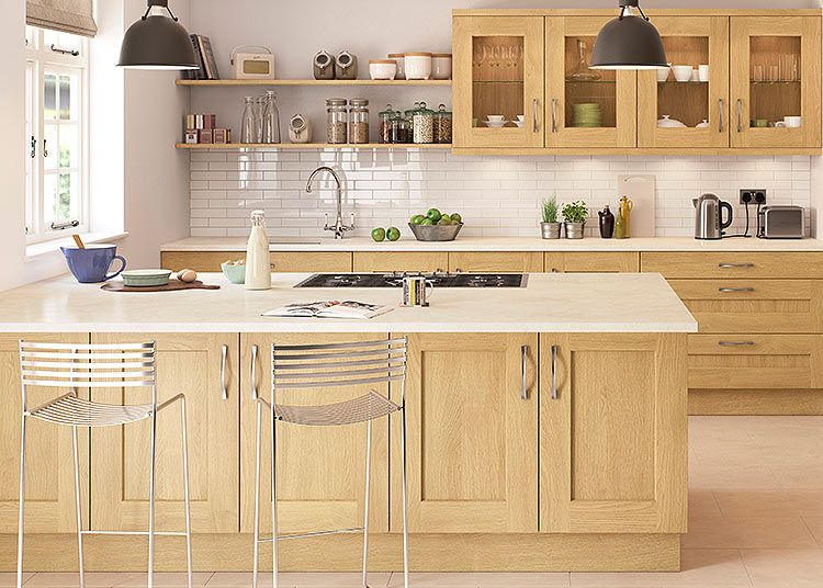 Rivington Solid Oak Shaker Style Kitchen Suits Both A Modern Or Traditional  Looku2013 First Impressions