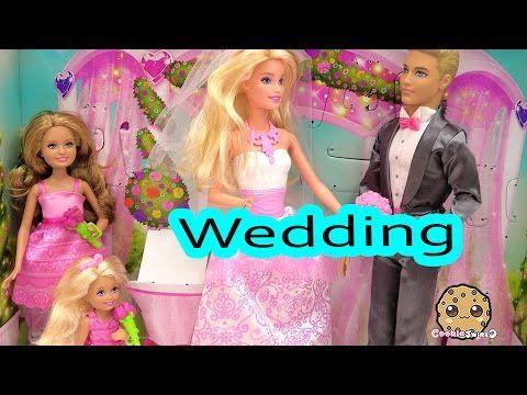 Barbie Playset Bride Dolls Wedding Day Bridal Party with Groom Ken Flower Girl Bridesmaid - YouTube #bridedolls