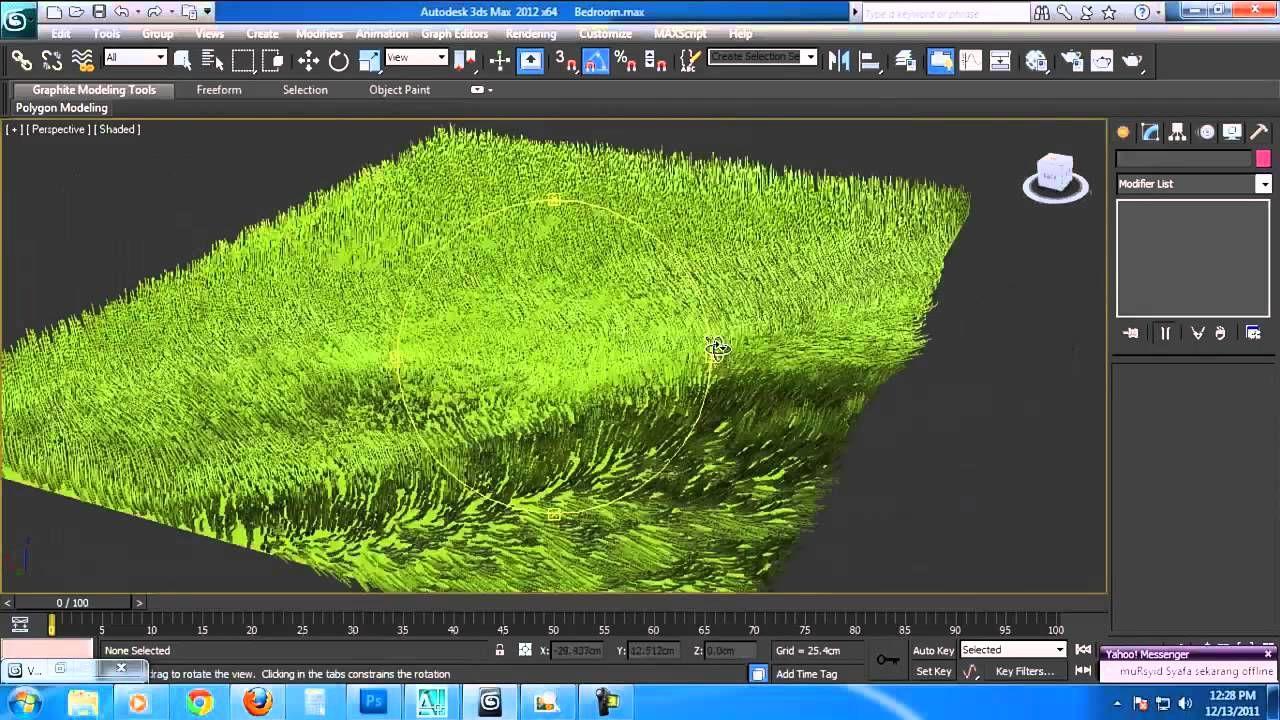 How to Create A 3D Grass Matt In Autodesk 3ds Max Tutorials