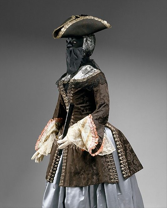Jacket and masque, second quarter of the 18th century
