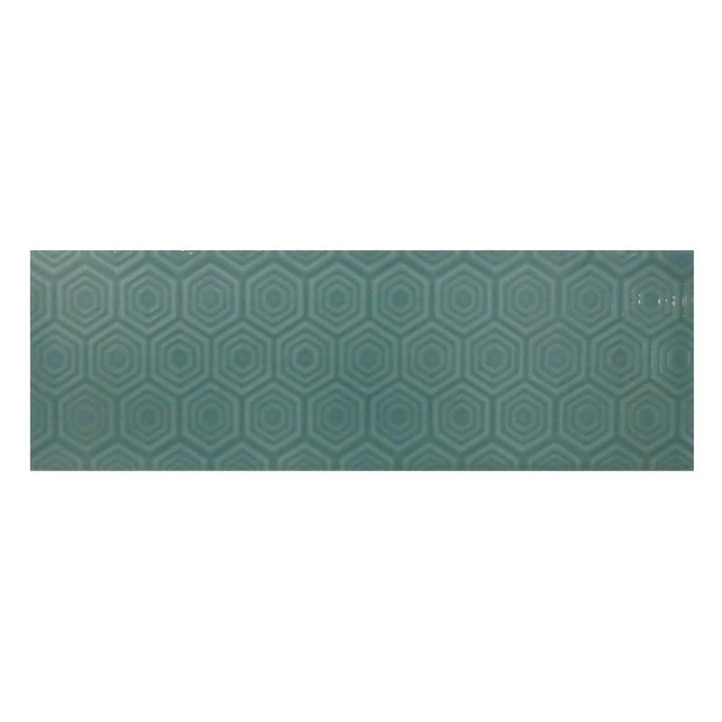 Make A Glossy Accent Wall: Accents Zenith Green Patterned Gloss Wall Tile 100mm X