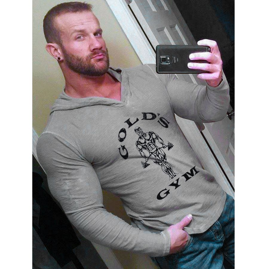 aaeed569 Hoodies Sweatshirts Mens Bodybuilding Hoodies Golds Gyms Clothing Workout  Slim Fit Sweatshirts Men Hooded Suits Tracksuit