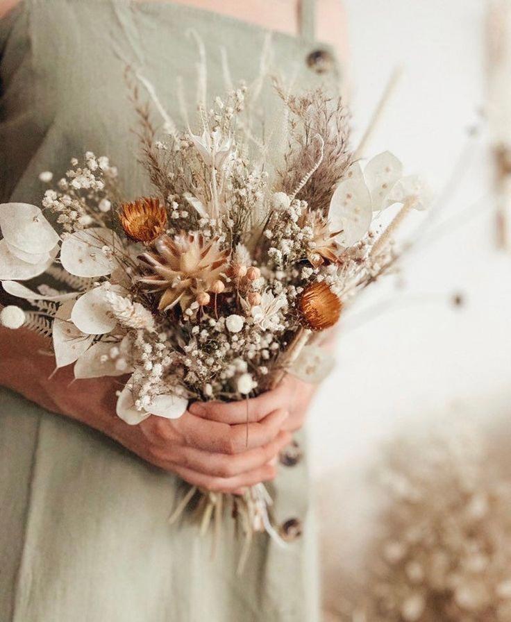 Dried flowers bridal bouquet, rustic bouquet, boho wedding, boho bride, lunaria bridal bouquet, whimsical bouquet, bridesmaids bouquet