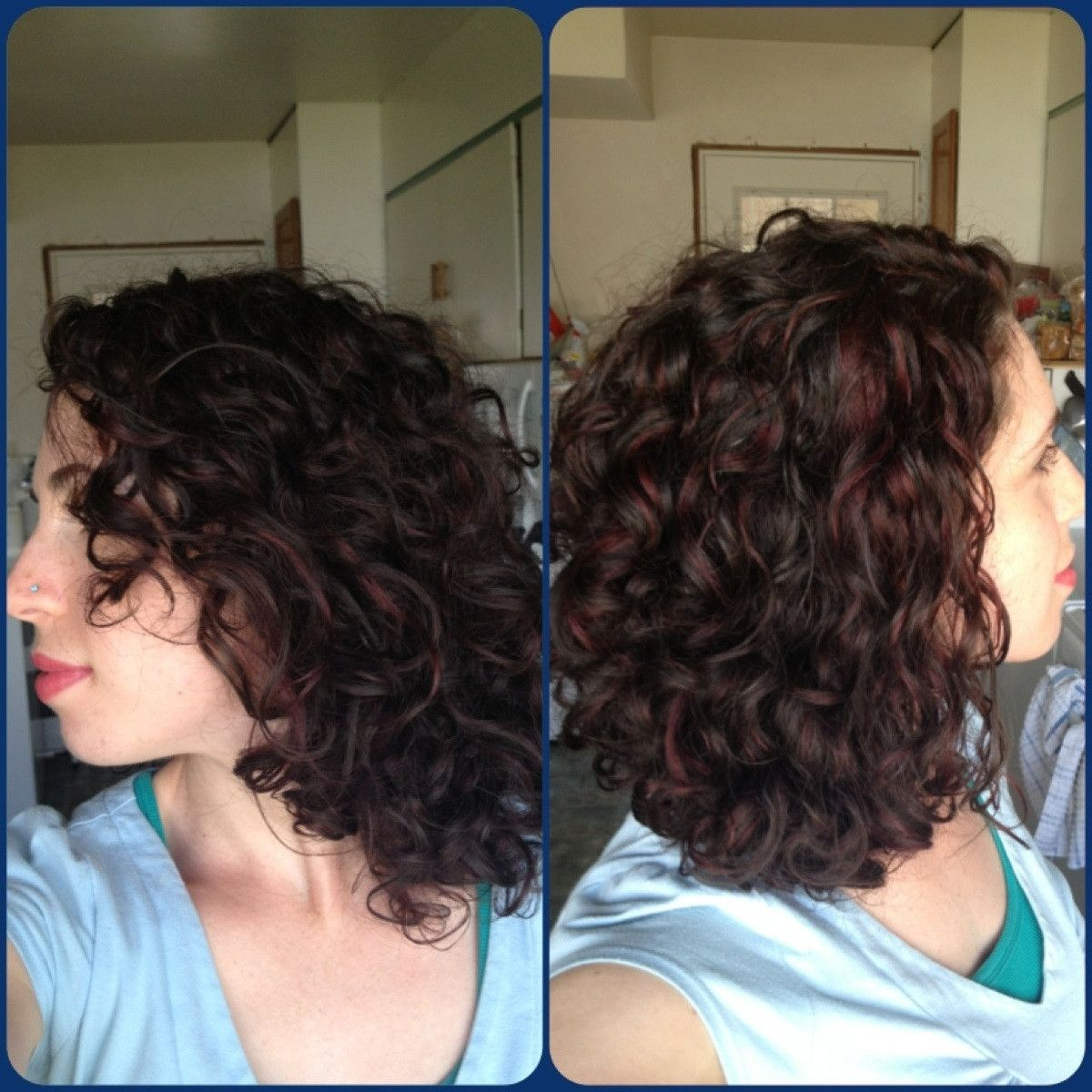 Red Highlights For Curly Hair Reposted From Fancyfollicles