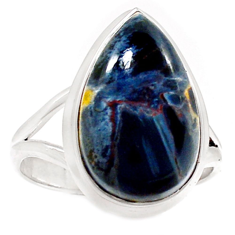 sterling natural ring silver pietersite itm size rings