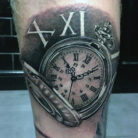 49c3dc842815c 200 Meaningful Pocket Watch Tattoos (Ultimate Guide 2019) - Part 3 ...