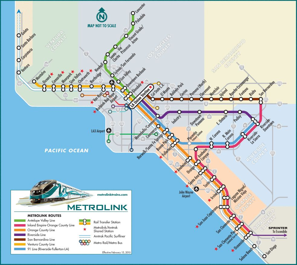 Los Angeles Metrolink Transit maps Pinterest Los angeles